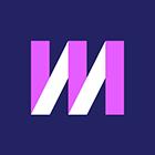 Logo couleur violet et blanc de Mixmax