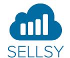 Le logo blanc et bleu de Sellsy