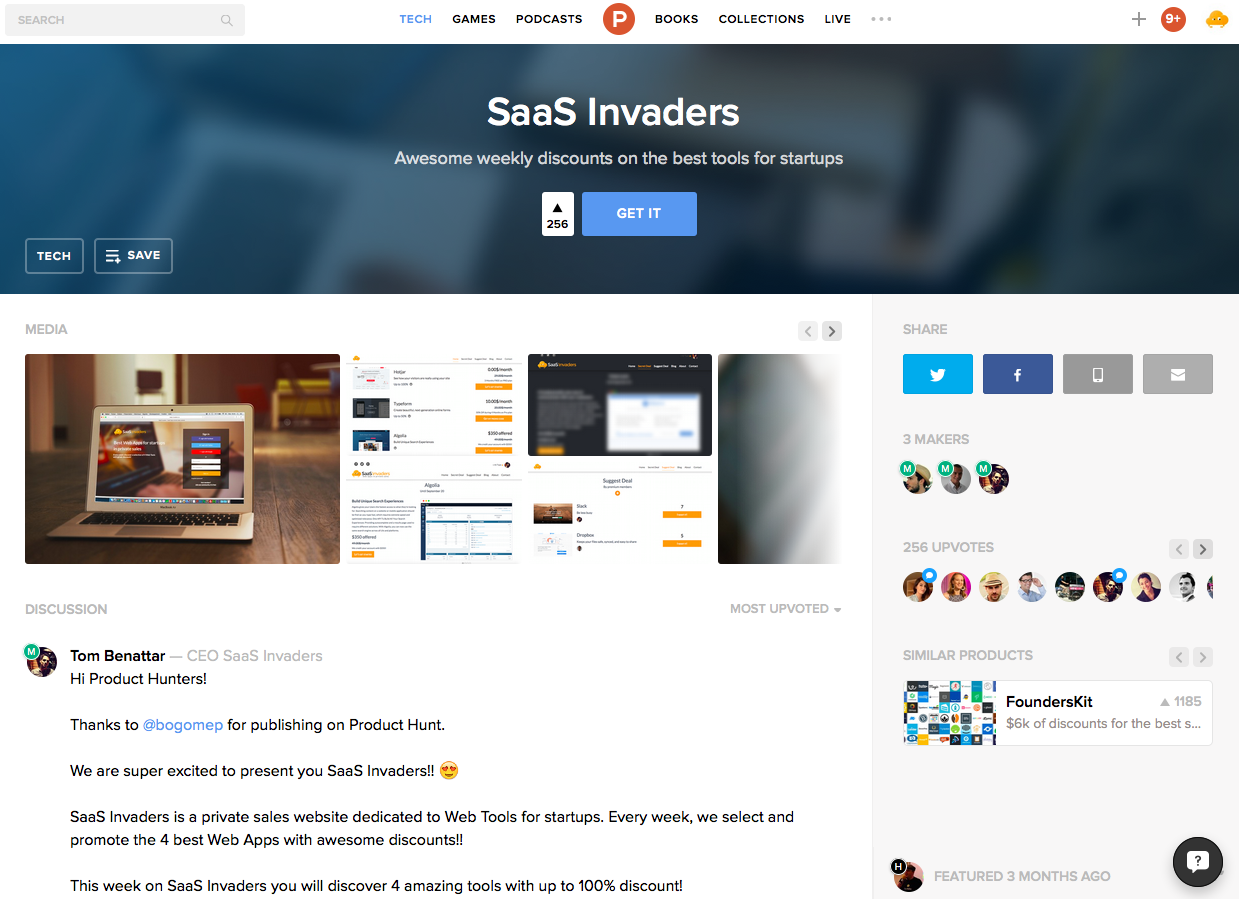 Product_Hunt_SaaS_Invaders
